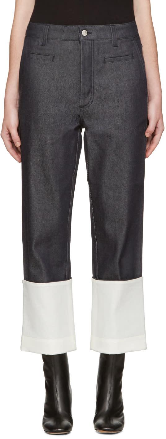 Loewe Navy Fisherman Jeans