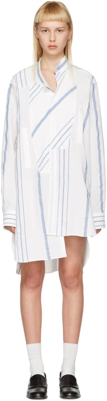 Loewe Off-white Asymmetric Striped Shirt