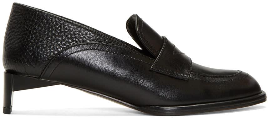 Loewe Black Low Heeled Moccasins