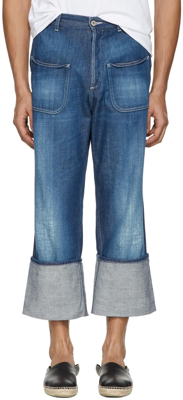 Loewe Indigo Patch Pocket Jeans