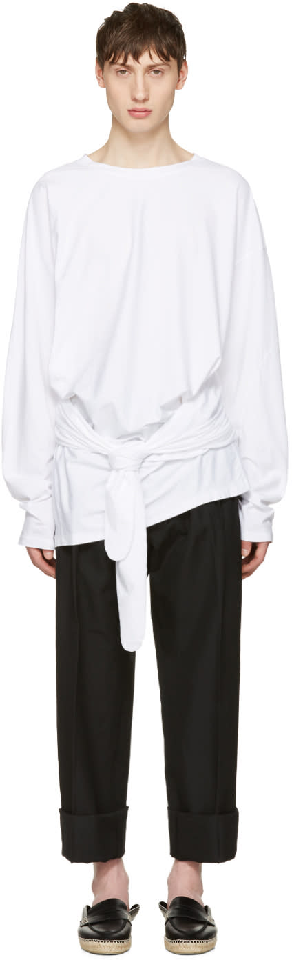 Loewe White Tied Layer T-shirt