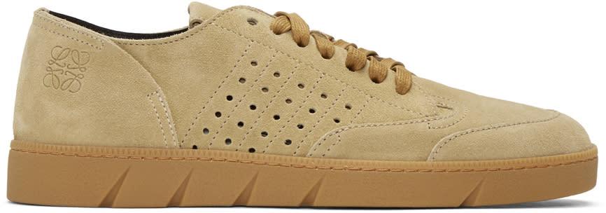 Loewe Tan Classic Nubuck Sneakers
