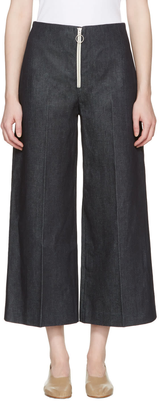Harmony Indigo Denim Pina Zip Trousers