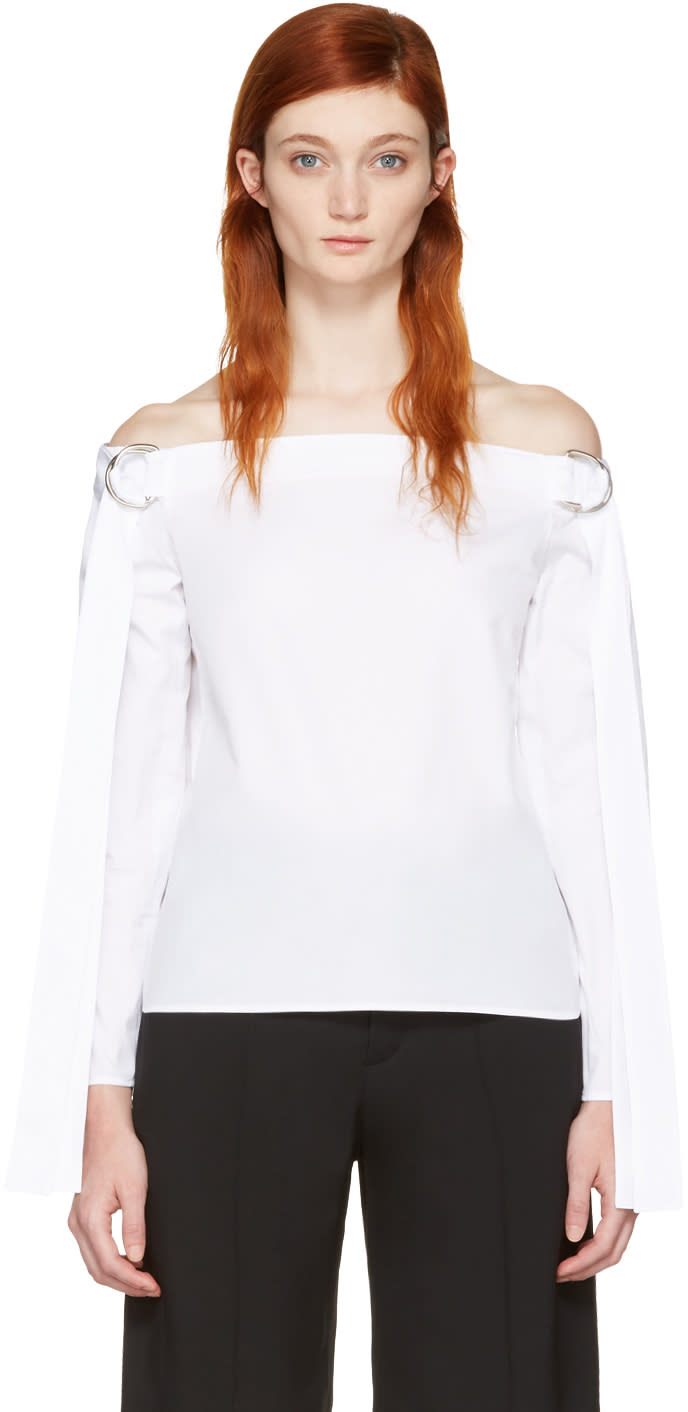 Harmony White Tara Off-the-shoulder Blouse