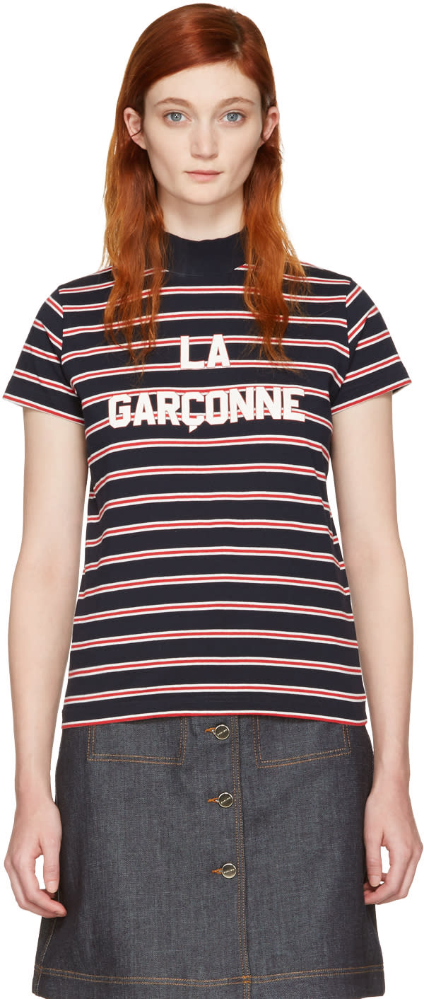 Harmony Navy Striped la Garconne T-shirt