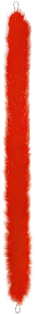 Fendi Red Fox Fur strap You Shoulder Strap