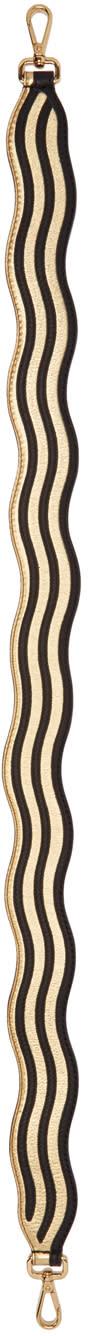 Fendi Gold Hypnotic strap You Shoulder Strap