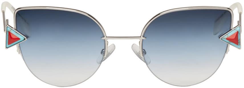 Fendi Silver Rainbow Cat-eye Sunglasses