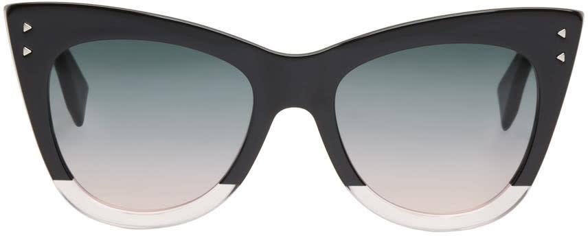 Fendi Black Two-tone Cat-eye Sunglasses