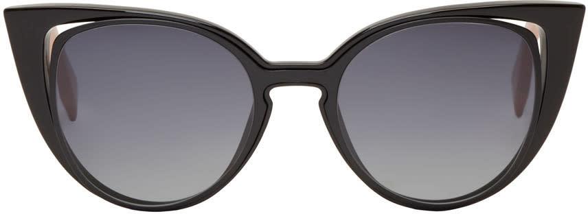Fendi Black Cut-out Cat-eye Sunglasses