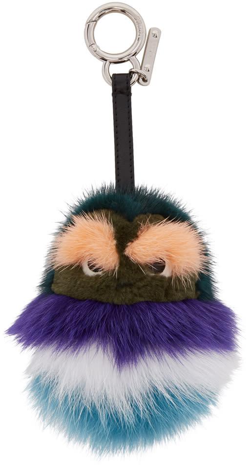 Fendi Green Fur Kid Keychain