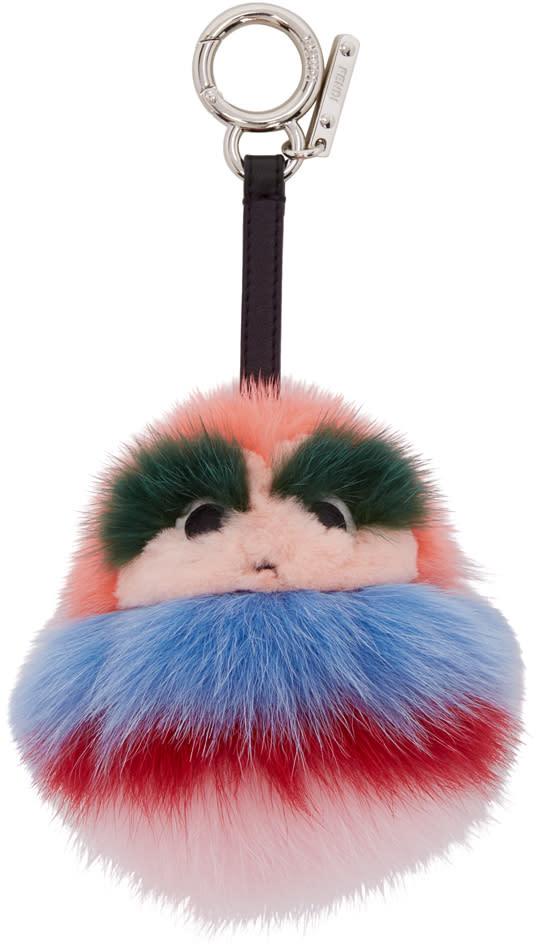 Fendi Pink Fur Kid Keychain