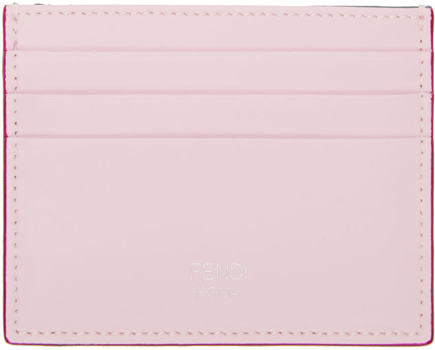 Fendi Pink and Green Card Holder