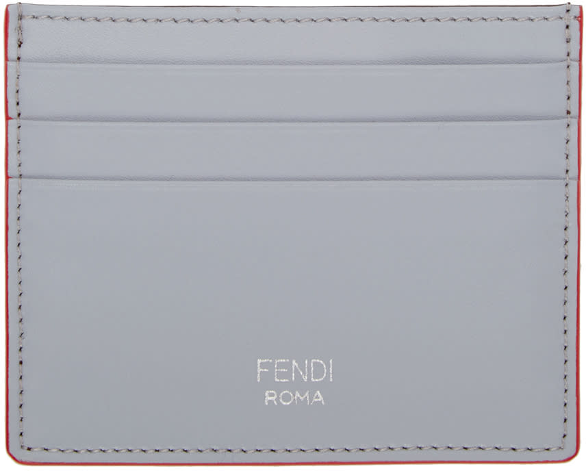 Fendi Grey and Brown Card Holder