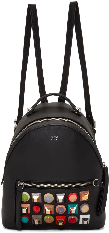 Fendi Black Mini Rainbow Backpack
