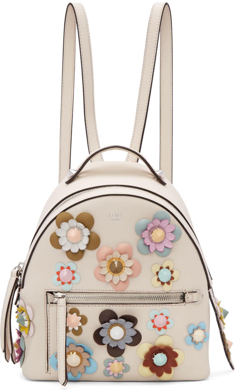 Fendi Off-white Mini Flowerland Backpack