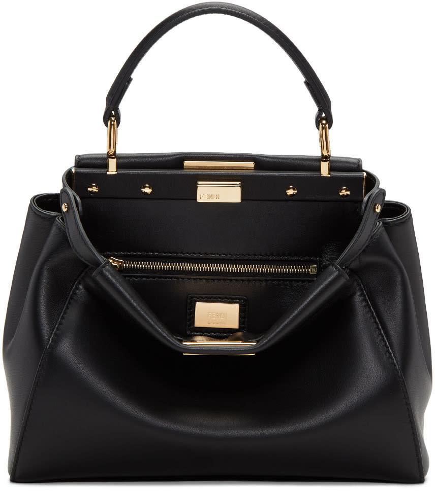 Fendi Black Mini Peekaboo Bag