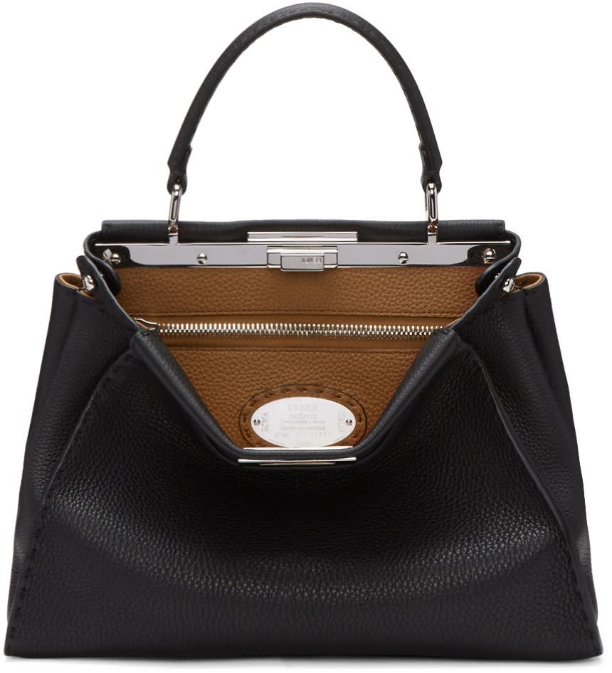 Fendi Black Regular Selleria Peekaboo Bag