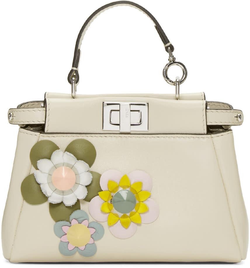 Fendi Ivory Micro Peekaboo Bag