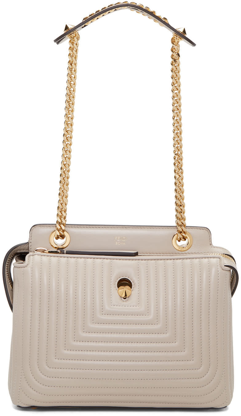 Fendi Grey Small Dotcom Click Bag
