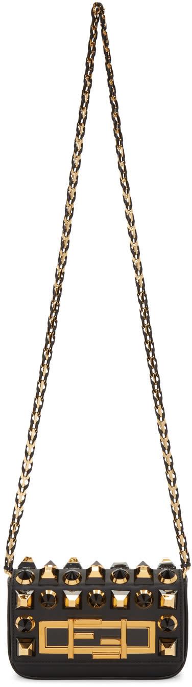 Fendi Black Mini Baguette Bag