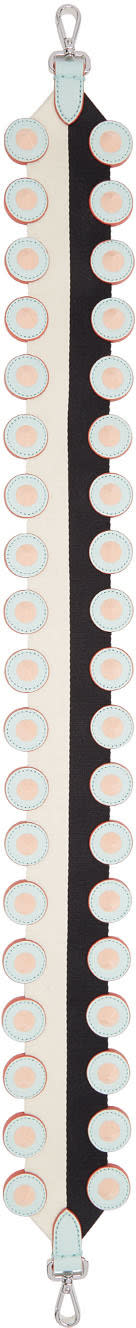 Fendi Black and White Studded strap You Shoulder Strap