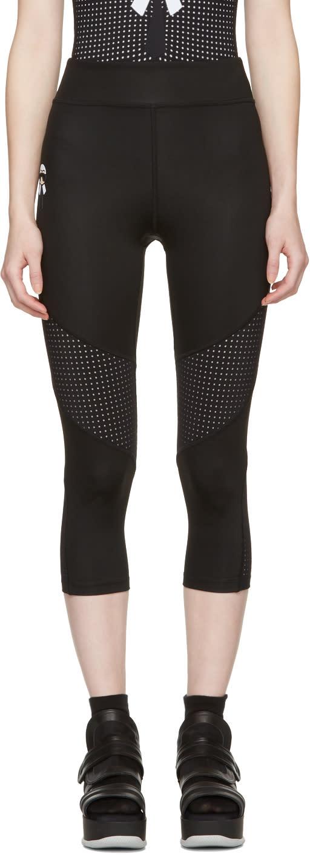 Fendi Black Perforated Karlito Yoga Leggings