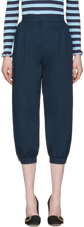 Fendi Navy Cuffed Trousers