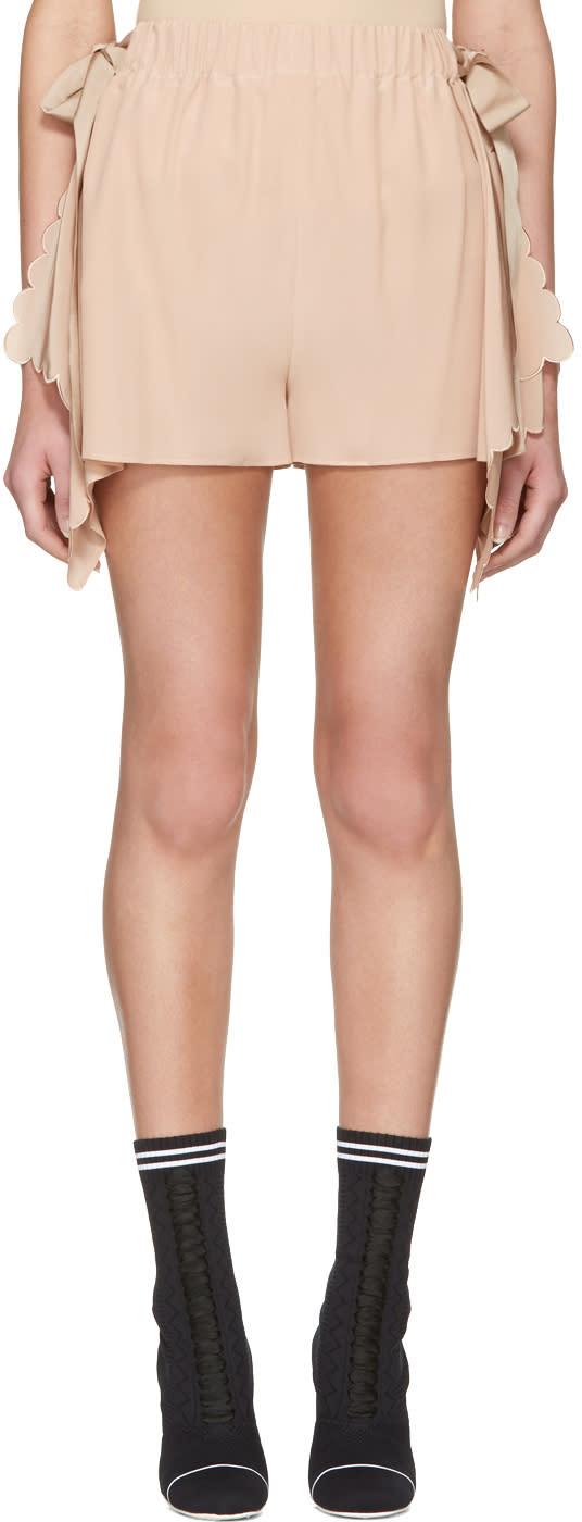 Fendi Pink Scalloped Shorts