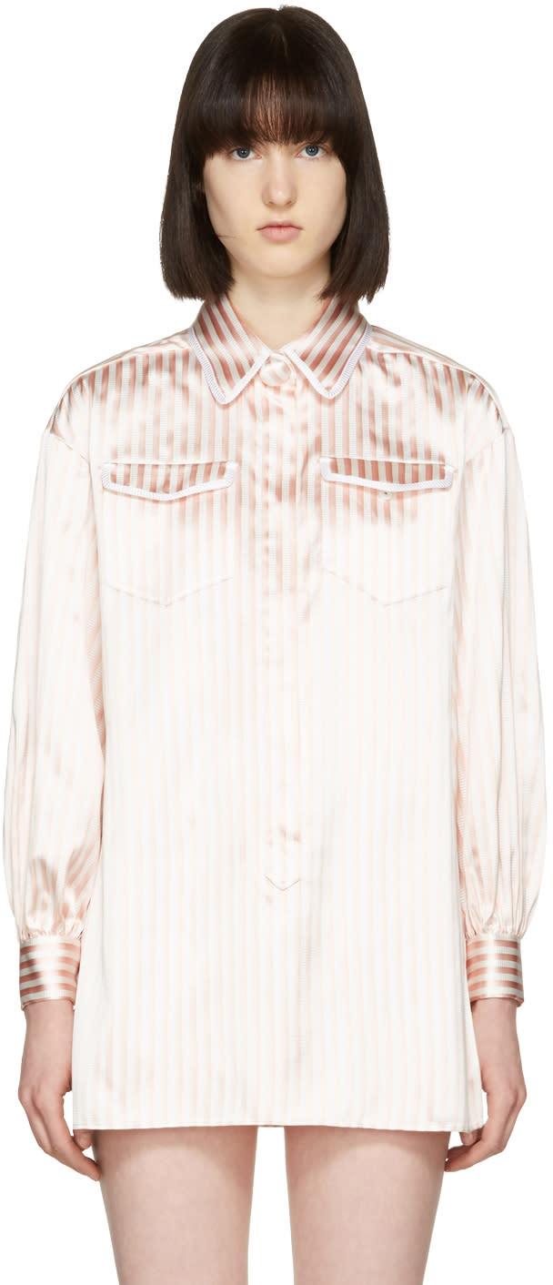 Fendi Pink and White Pyjama Shirt Set