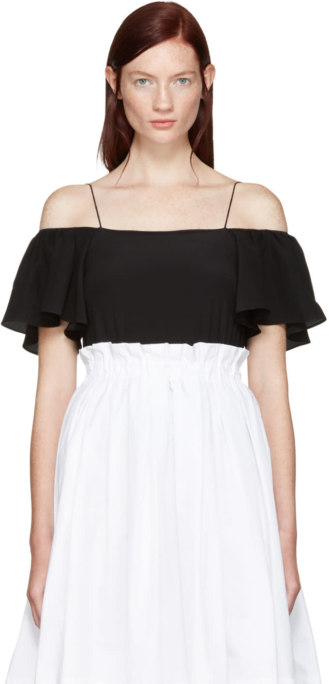 Fendi Black Off-the-shoulder Tank Top