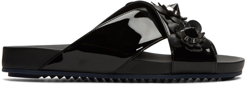 Fendi Black Flowerland Sandals