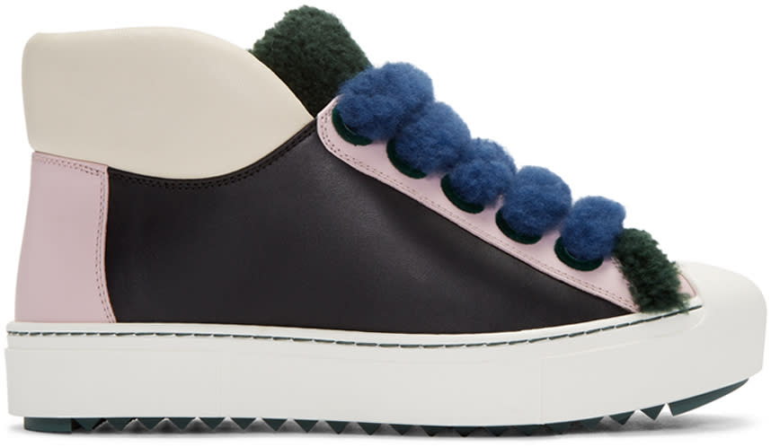 Fendi Multicolor Shearling Sneakers