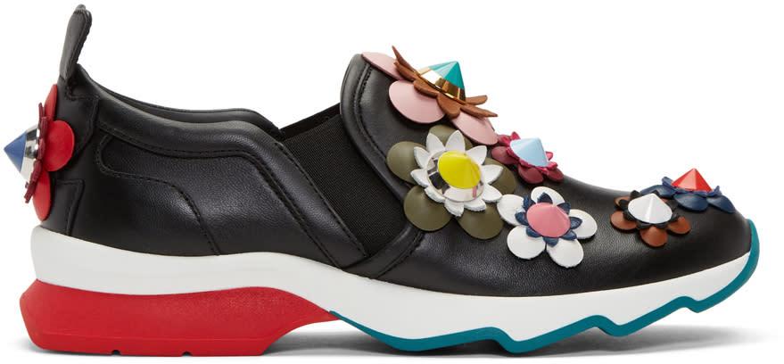 Fendi Black Flowerland Sneakers