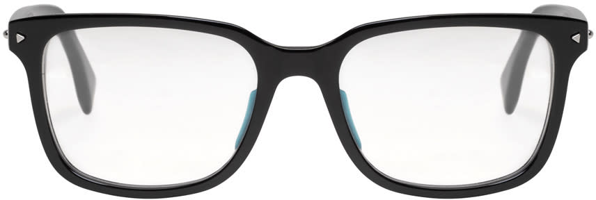 Fendi Black Rectangular Glasses