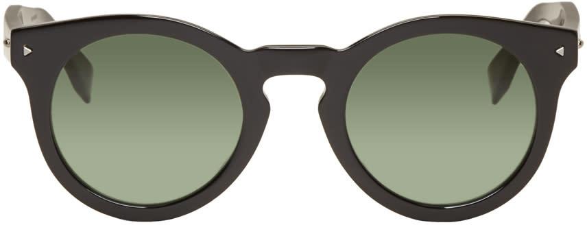 Fendi Black Round Sunglasses