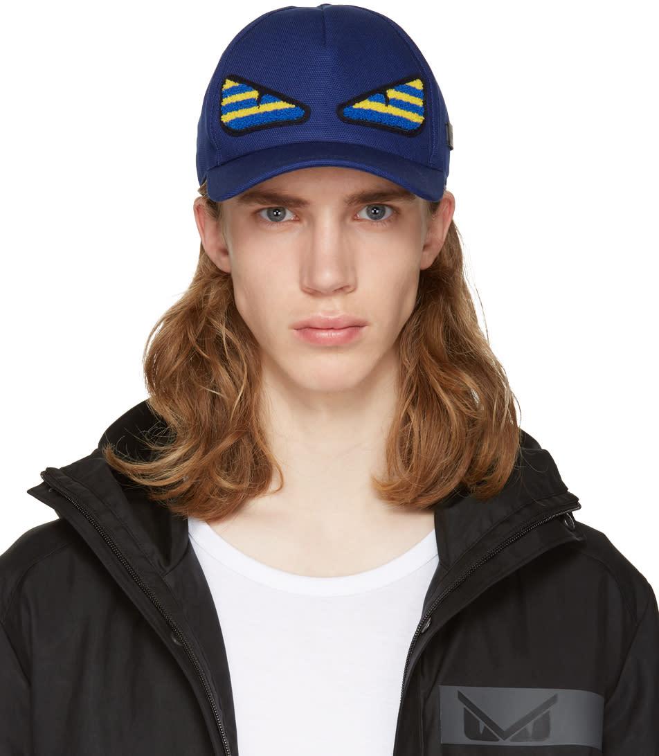 Fendi Navy bag Bug Cap