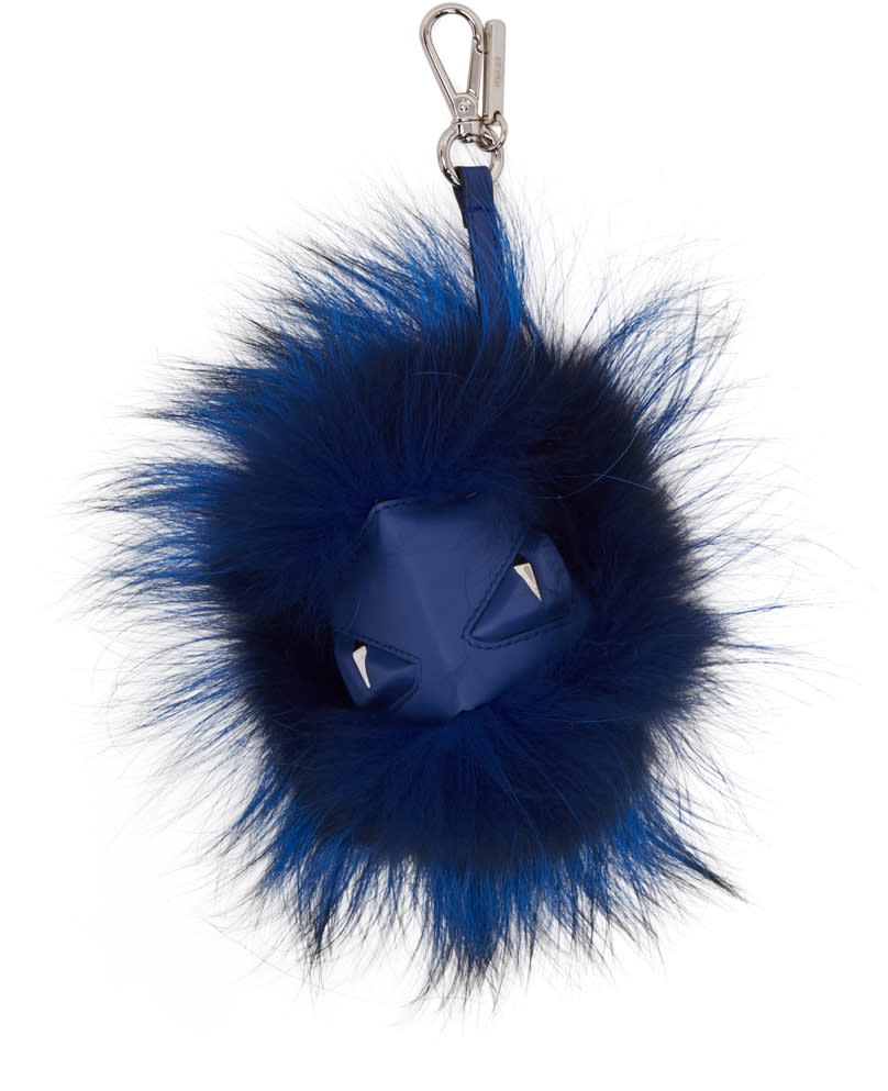 Fendi Blue bag Bug Keychain