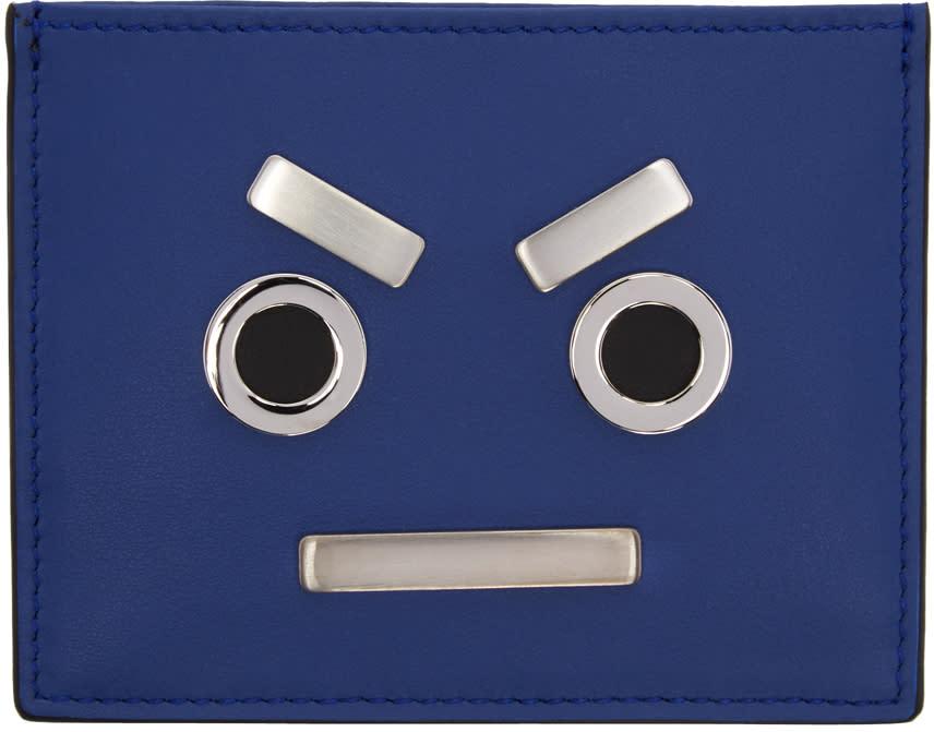 Fendi Blue fendi Faces Card Holder