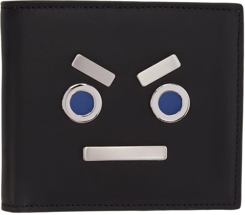 Fendi Black fendi Faces Wallet