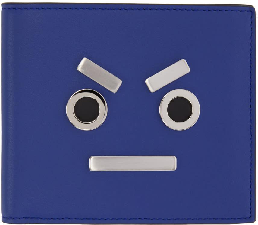 Fendi Blue fendi Faces Wallet