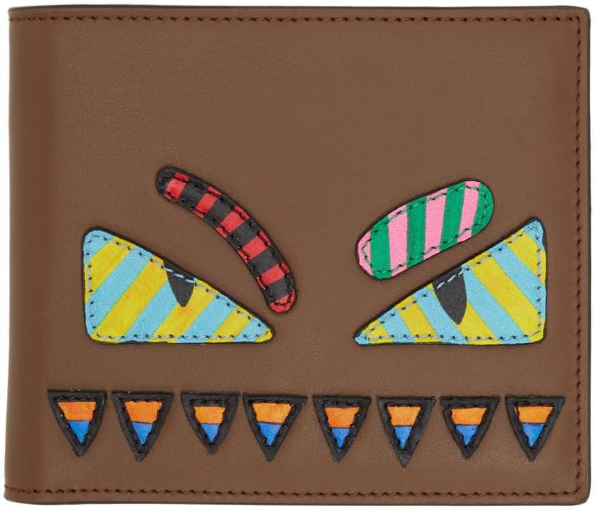 Fendi Brown bag Bugs Wallet