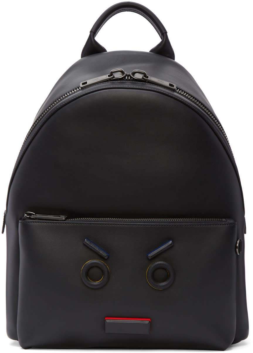 Fendi Black fendi Faces Backpack