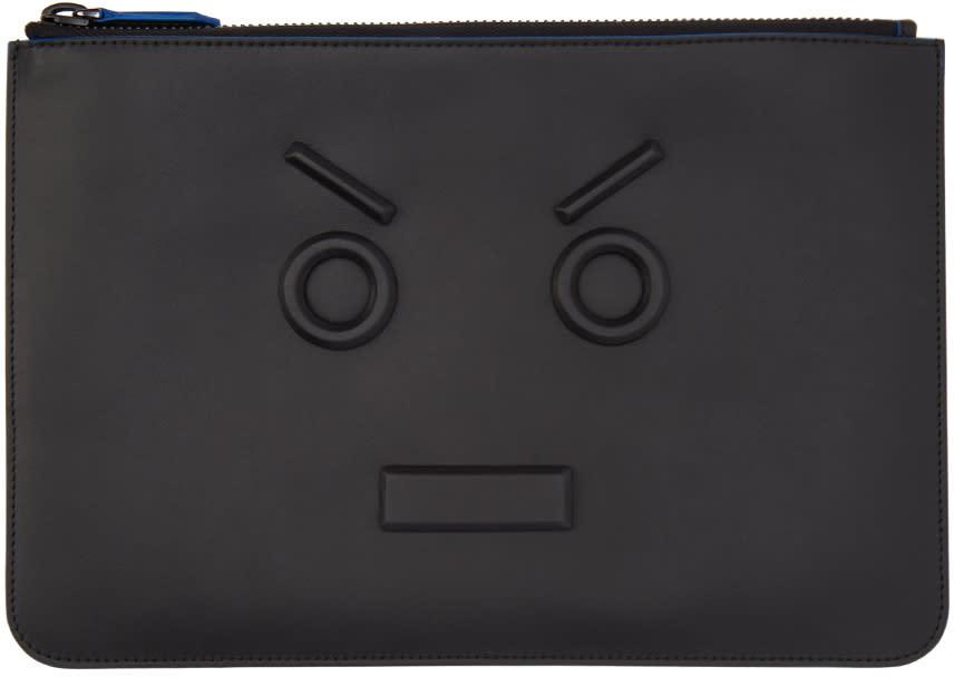 Fendi Black 3d fendi Faces Pouch
