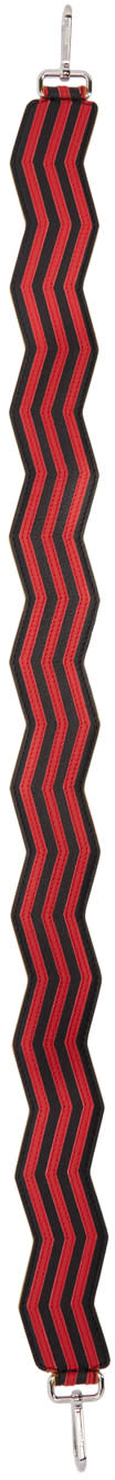Fendi Red Zig Zag strap You Shoulder Strap