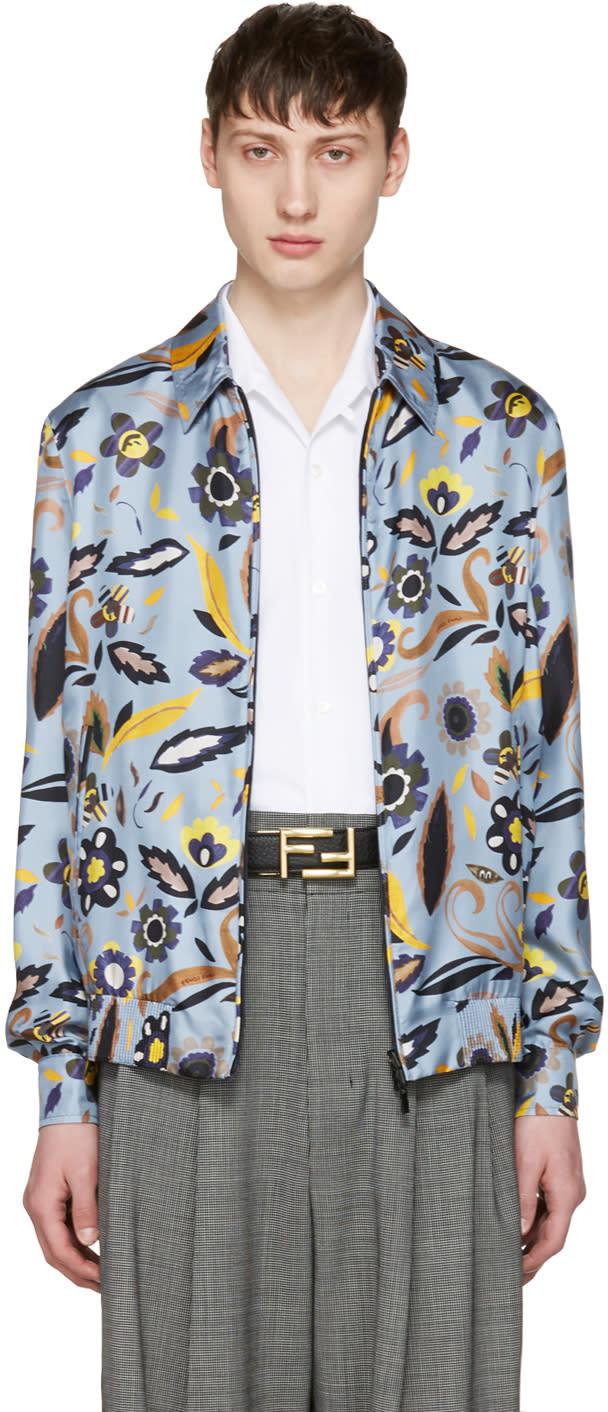 Fendi Blue Flower Jacket