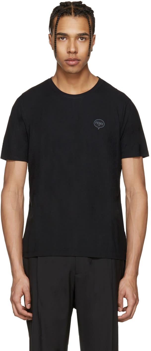 Fendi Black fendi Bubble T-shirt