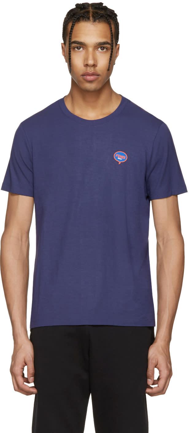 Fendi Blue fendi Bubble T-shirt