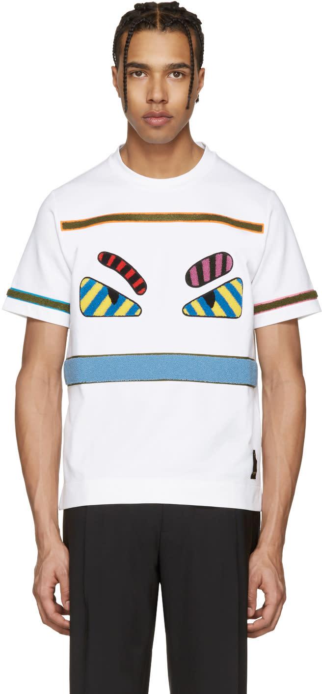 Fendi White bag Bugs T-shirt