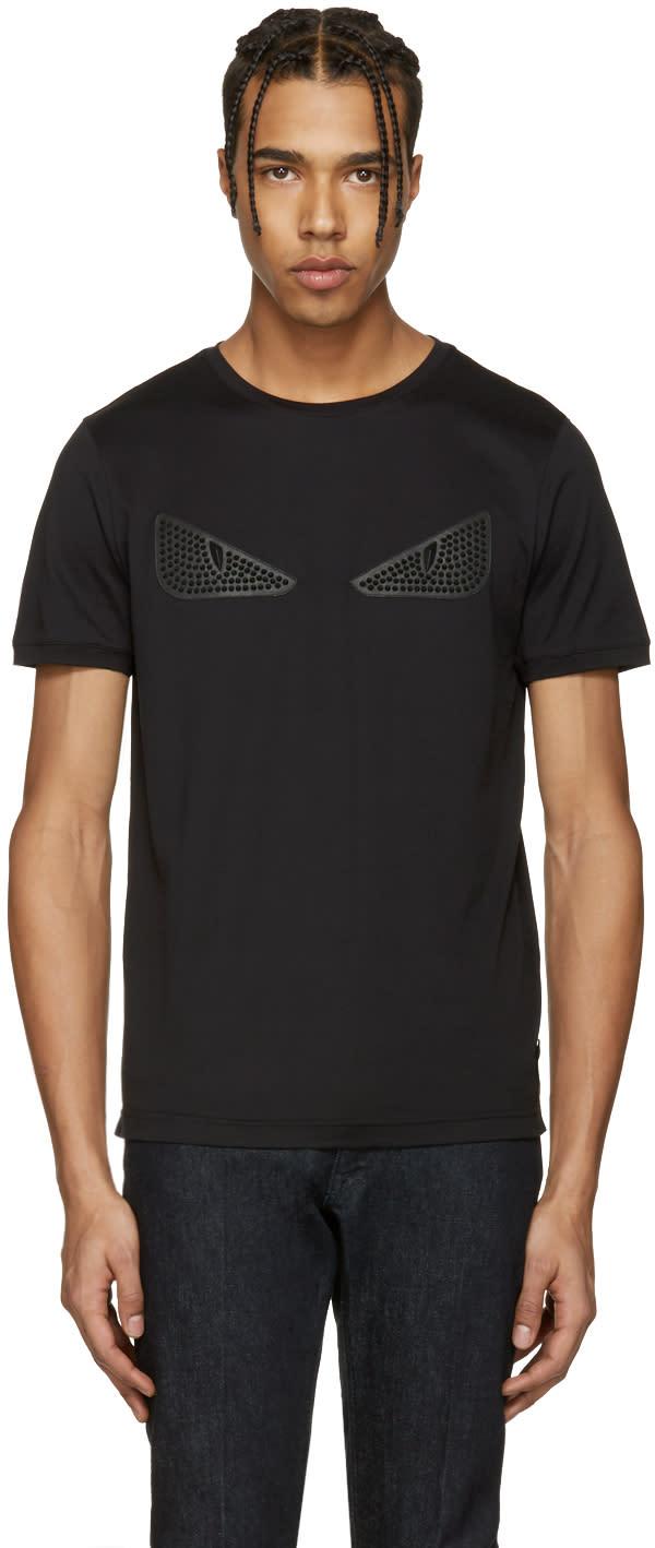 Fendi Black Studded bag Bug T-shirt